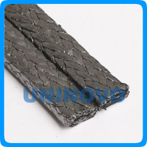 Expanded graphite braided ring packing