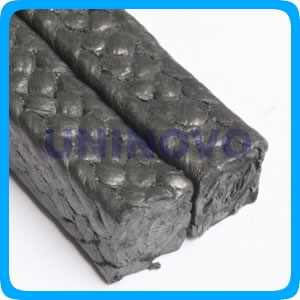 Carbonized fiber packing reinforced with Inconel wire