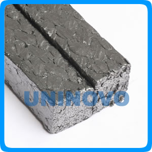 Expanded graphite braided packing reinforced with SS304 wire