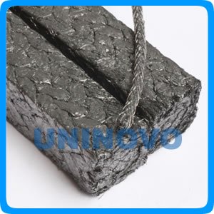 Expanded graphite braided packing reinforced with Ni wire